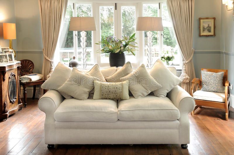 Download Sofa and Lounge stock photo. Image of sitting, cushions - 13860408