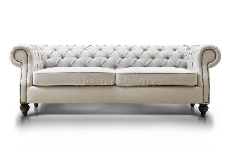 Sofa luxueux blanc images stock