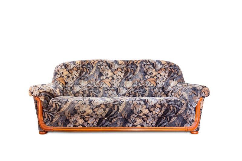 Sofa luxueux d'isolement sur le fond blanc images libres de droits