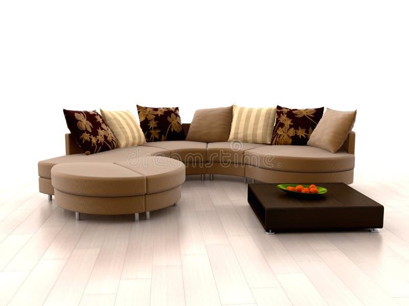 sofa moderne illustration libre de droits