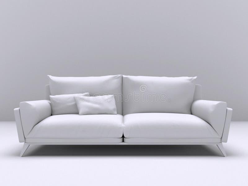 Download Sofa Moderne Intérieur Blanc Avec Deux Oreillers Illustration Stock - Illustration du décor, meubles: 77159401