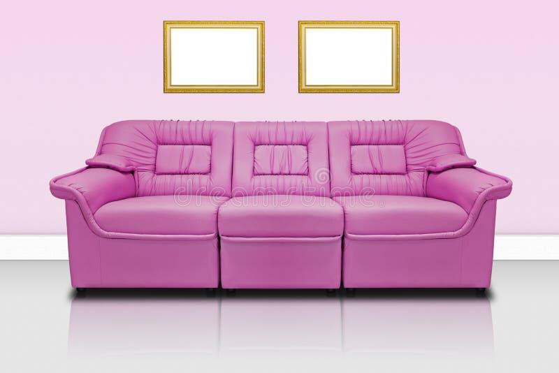 Sofa moderne rose images libres de droits