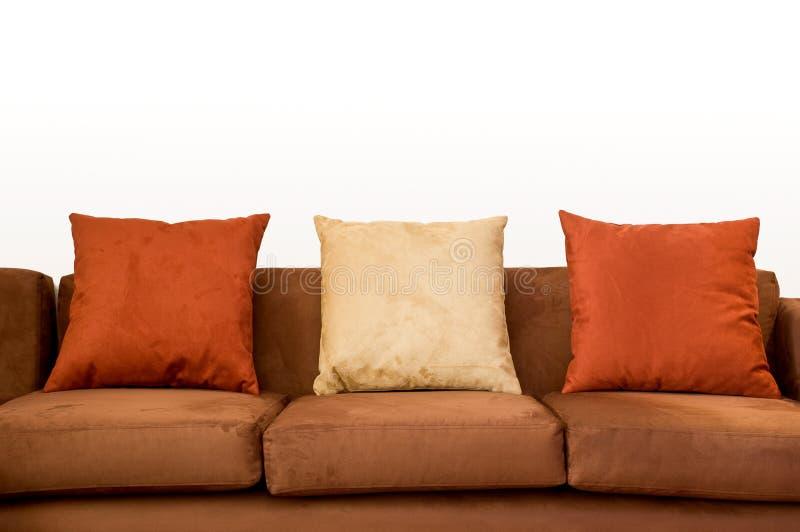 Sofa nah oben mit Exemplarplatz stockbilder