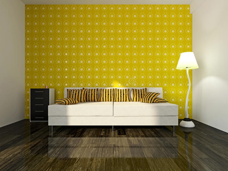 Download Sofa near the wall stock illustration. Image of parquet - 40450999