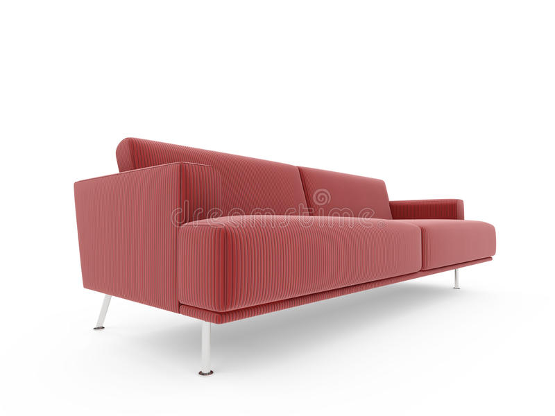 Download Sofa over white background stock illustration. Image of isolated - 9778199
