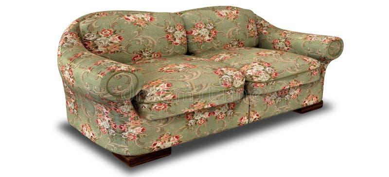 Sofa Perspective floreale anziano illustrazione di stock