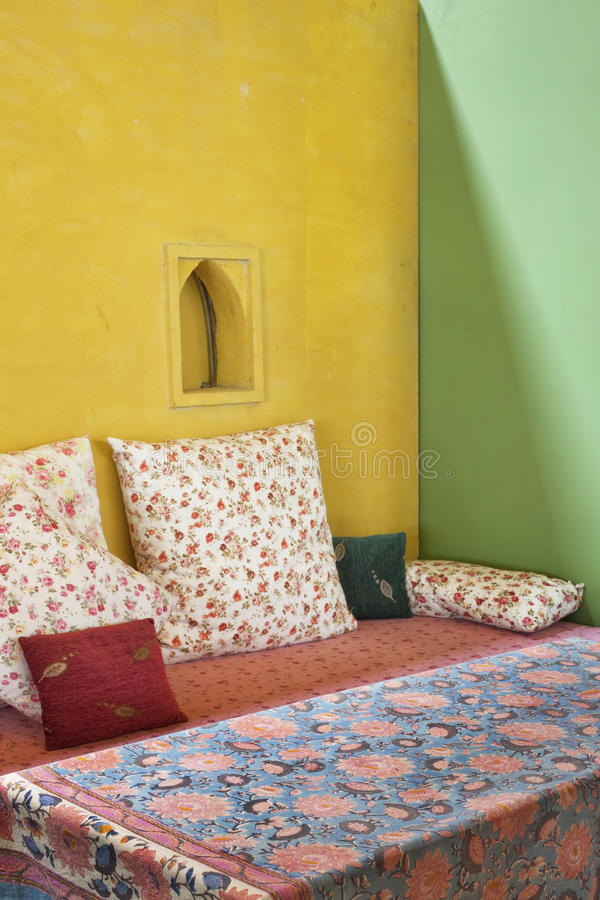 Sofa And Pillow  Decorated Stock Photo