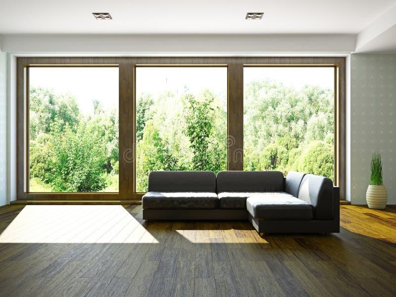 Sofa près de la fenêtre illustration stock