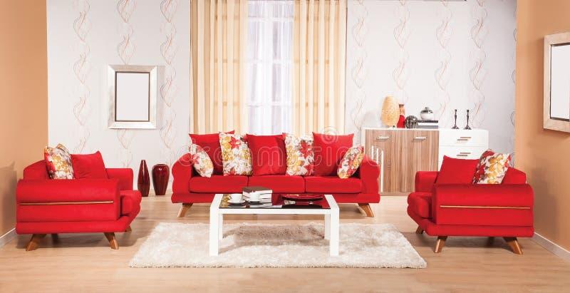 Sofa réglé pour la maison images stock