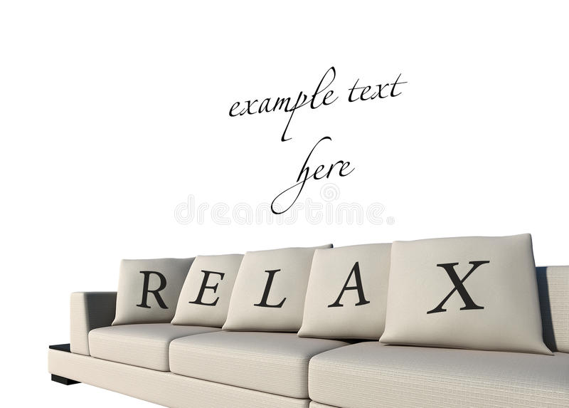 Download Sofa with relax text stock illustration. Image of texture - 29003198