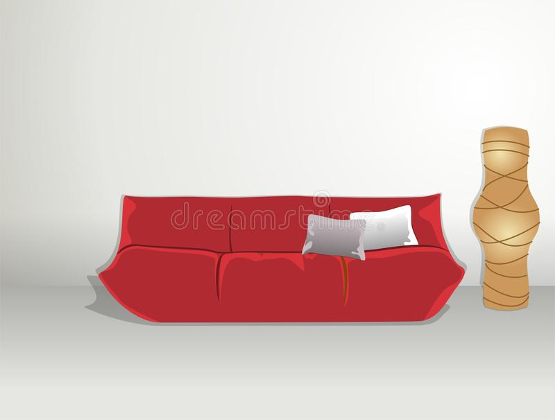 Download Sofa And Rice Paper Lamp Royalty Free Stock Images - Image: 29074469