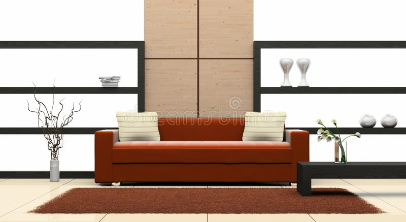 Sofa in the room vector illustration
