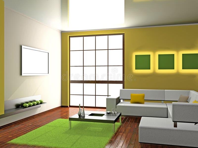 Sofa in the room stock illustration