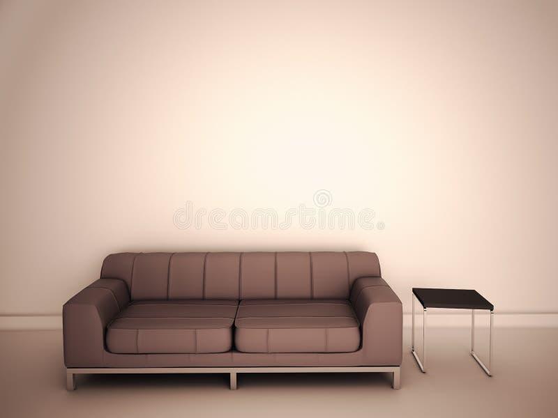 Sofa in room stock illustration