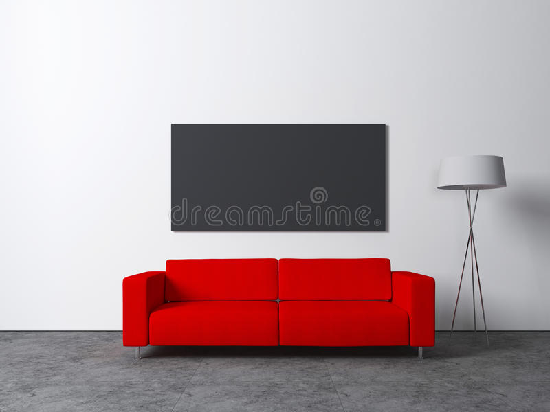Sofa rouge illustration libre de droits