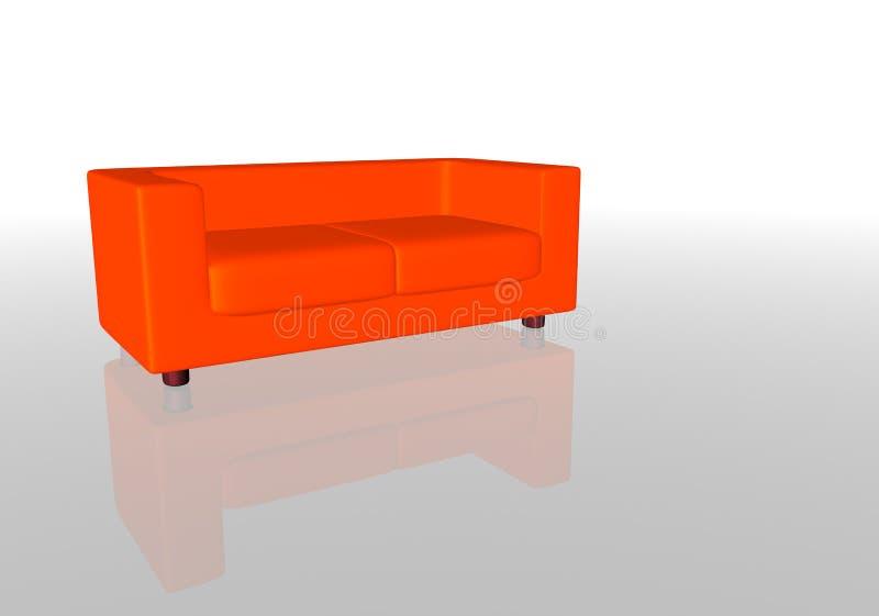 Download Sofa rouge illustration stock. Illustration du plaine, sofa - 88813