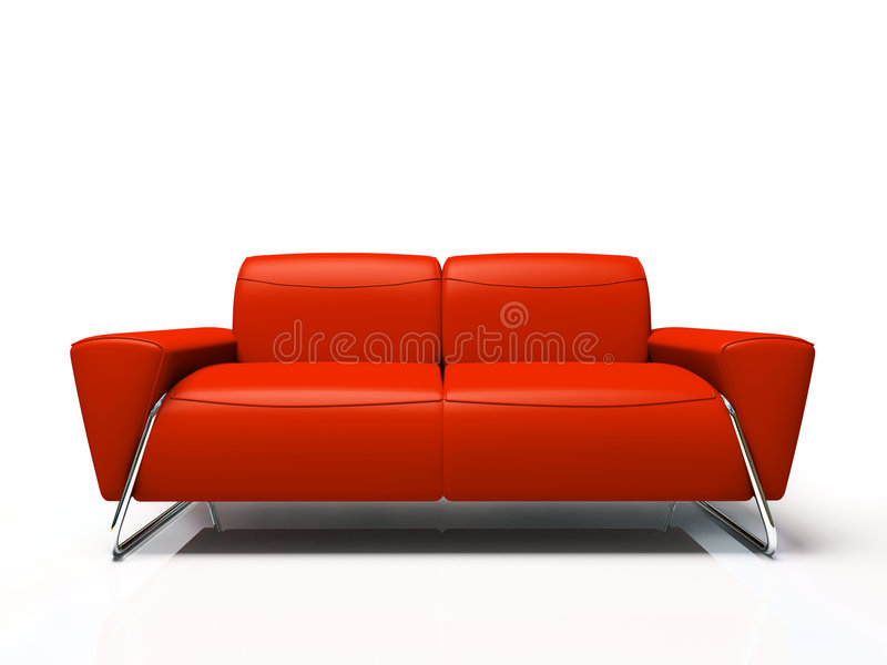 Sofa rouge moderne illustration libre de droits