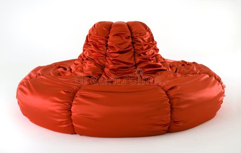 sofa rouge moderne image libre de droits