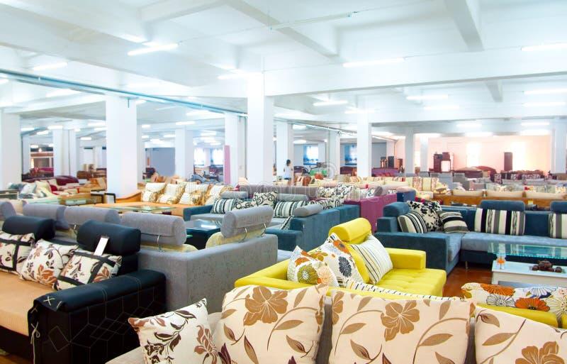 Sofa store royalty free stock photos