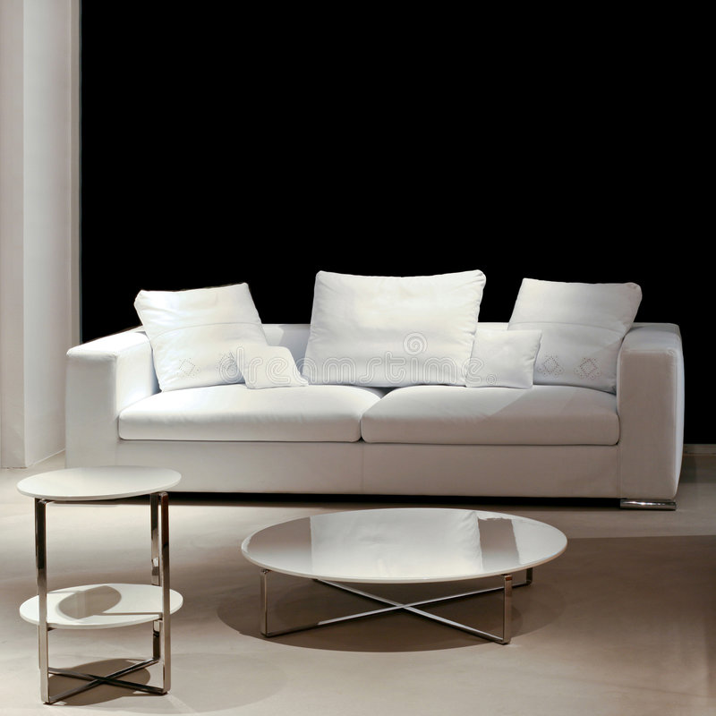 Sofa and table stock image