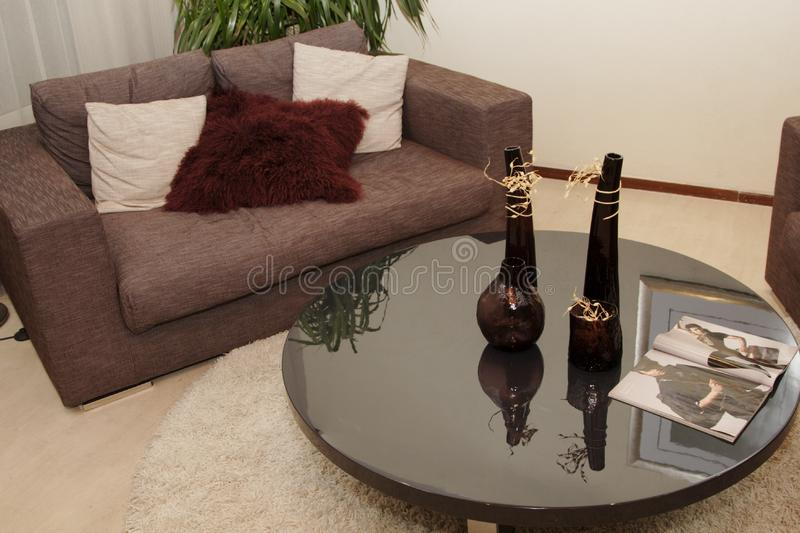 Sofa and tea table royalty free stock images
