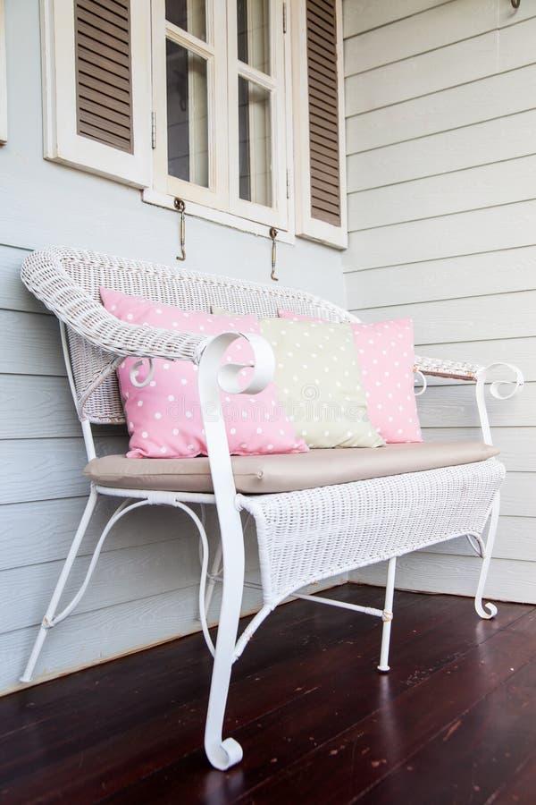 A sofa on terrace stock photo