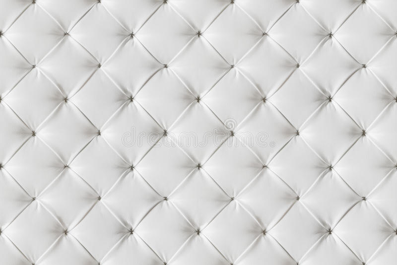 Sofa Texture Seamless Background di cuoio, modello dei cuoi bianchi immagini stock