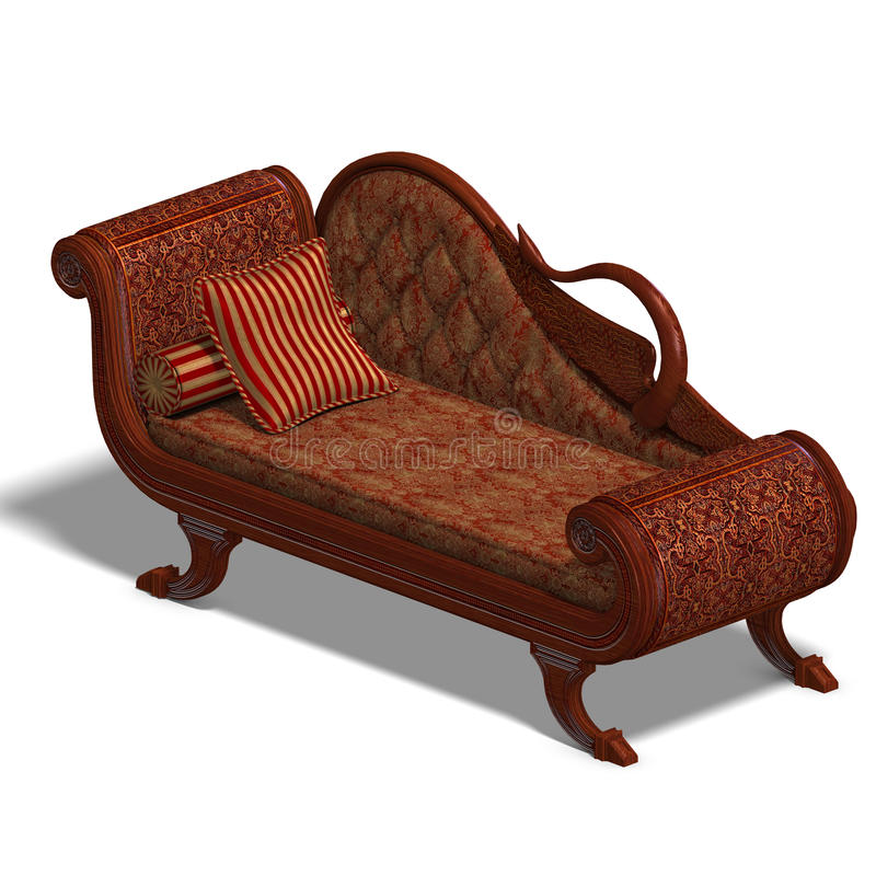 Sofa très confortable de temps biedermeier illustration stock