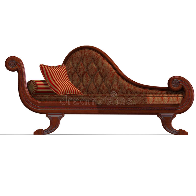 Sofa très confortable de temps biedermeier illustration de vecteur