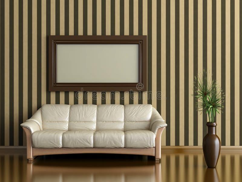 Sofa und Anlage stockbilder