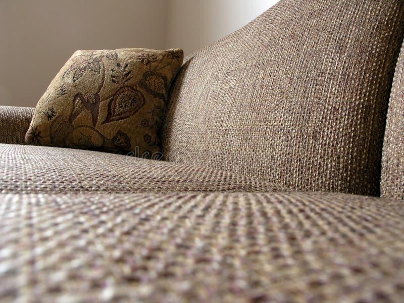 Sofa und Kissen 2 lizenzfreies stockbild