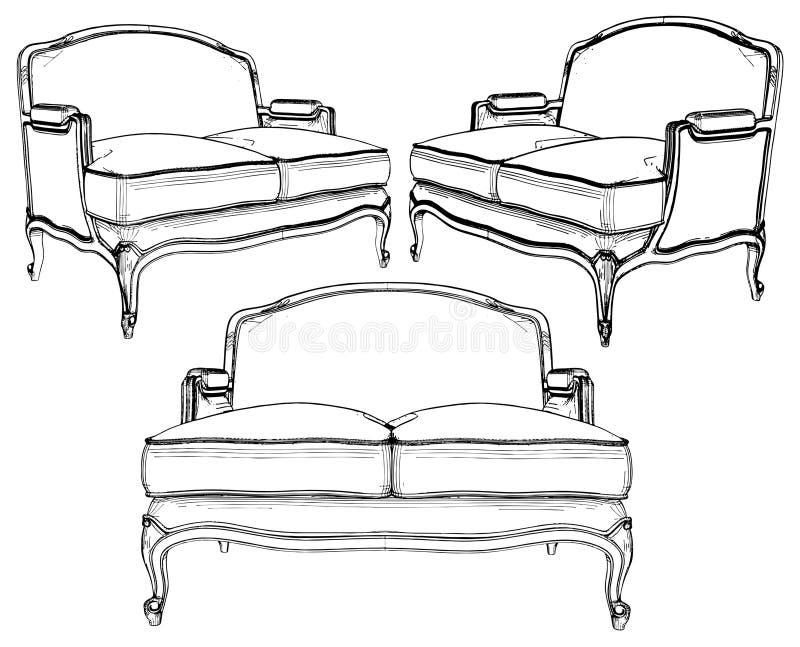 Sofa-Vektor 05 stock abbildung