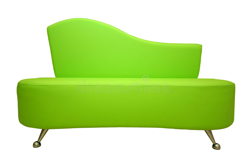 Sofa vert d'isolement photos libres de droits
