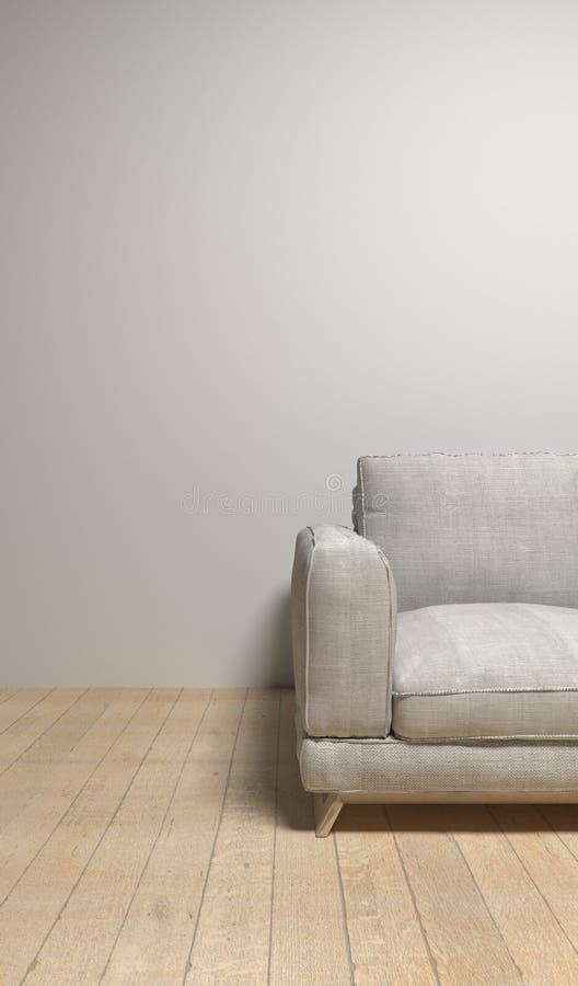 sofa wewnętrzna ilustracja 3 d fotografia royalty free