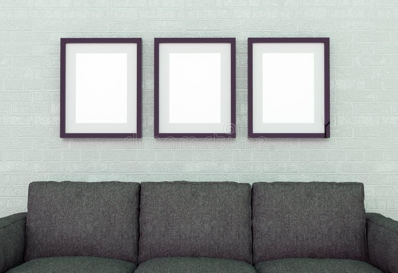 sofa wewnętrzna ilustracja 3 d obrazy royalty free