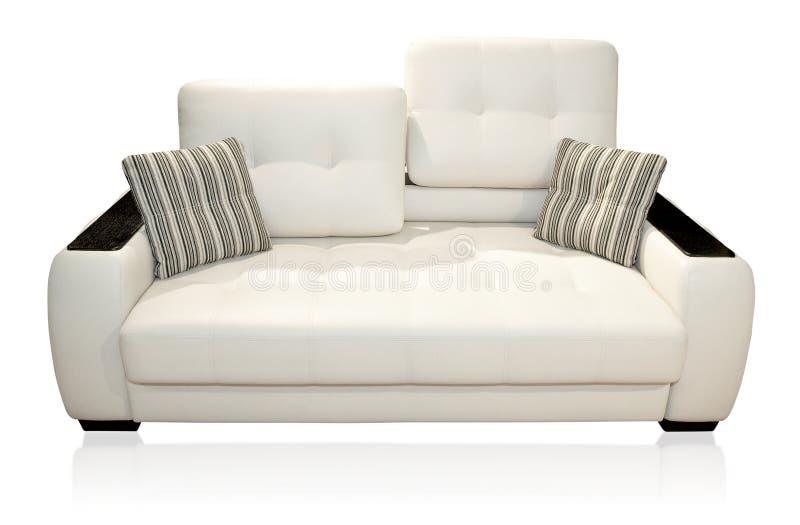 Sofa on white stock images