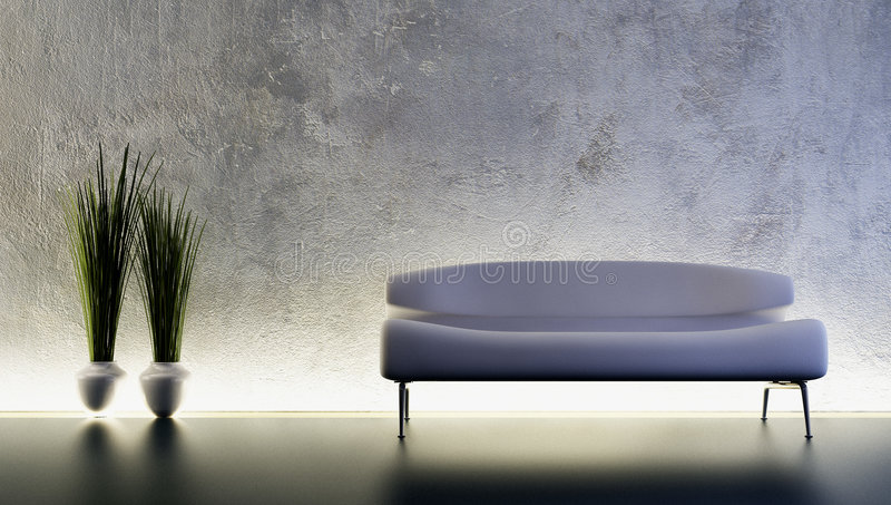 sofa wytapiania 3 d ilustracji