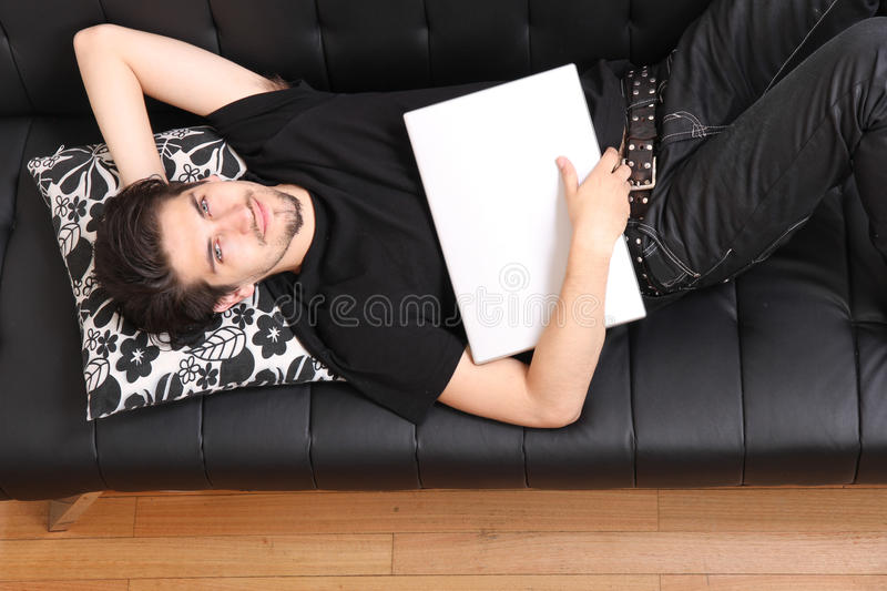Download On the Sofa stock image. Image of live, people, cushion - 33618553