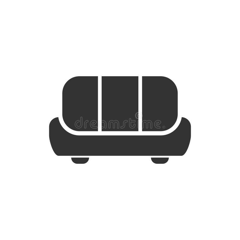 Sofaikone flach stock abbildung