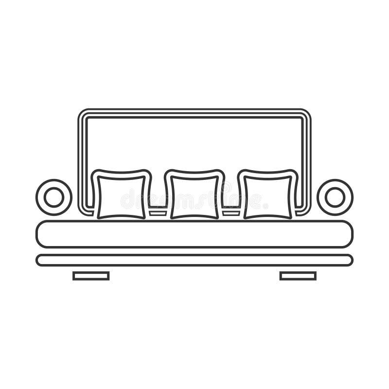 Sofaikone flach lizenzfreie abbildung