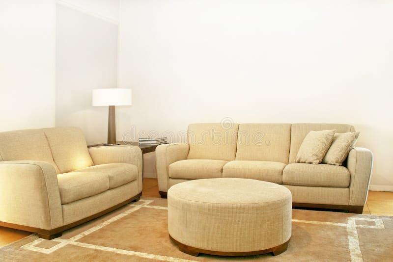 sofas beiges deux photographie stock