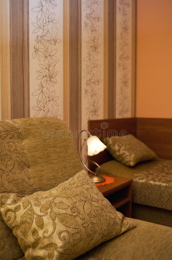 Download Sofas and pillows stock photo. Image of table, covered - 31415784