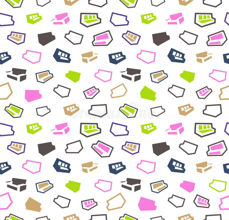 Sofas seamless pattern background stock photography