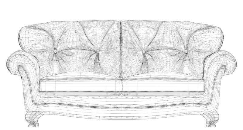 Sofavektor vektor abbildung