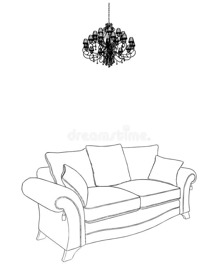 sofavektor för 04 ljuskrona royaltyfri illustrationer