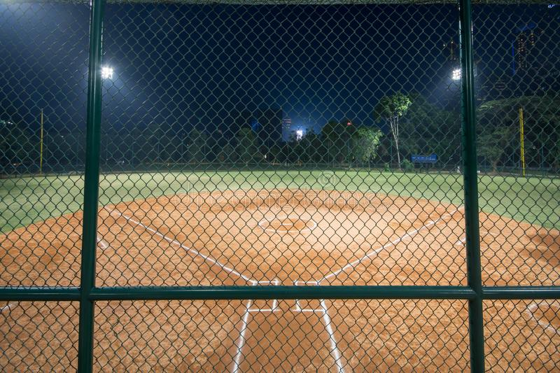 Softball field located in Jakarta, Indonesia.  royalty free stock images