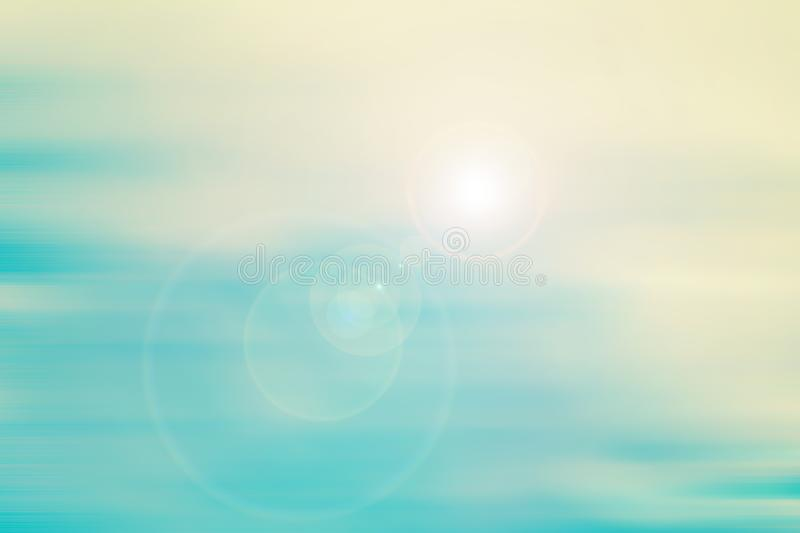 Soff blue and green gradient with flare light background stock image