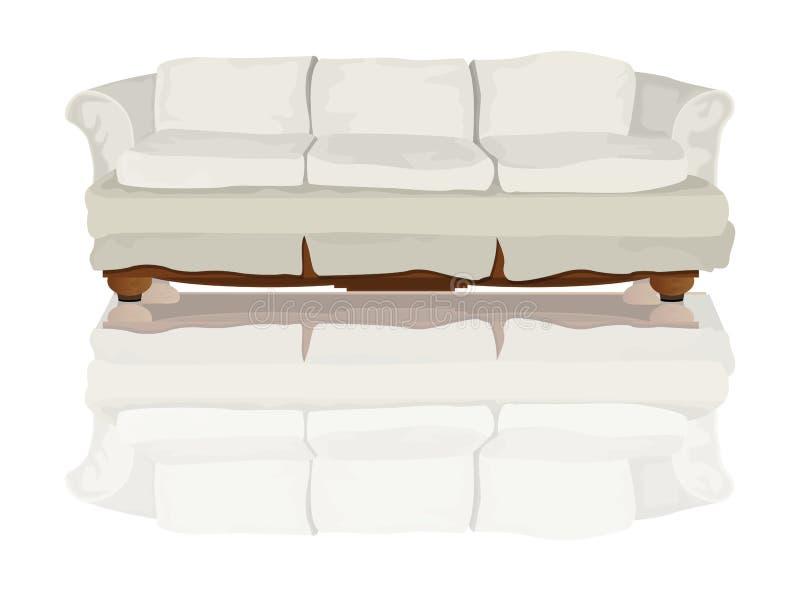 soffa royaltyfri illustrationer