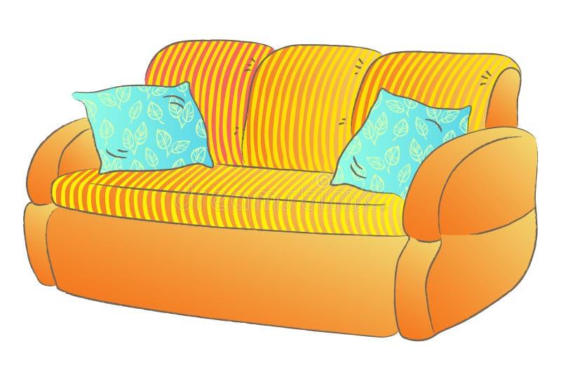 soffa vektor illustrationer