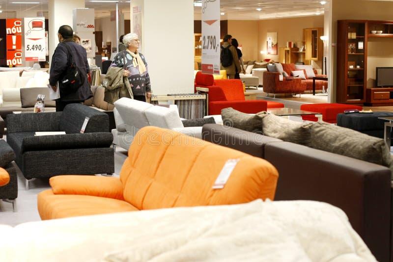 Soffa- och sofaslager arkivbild